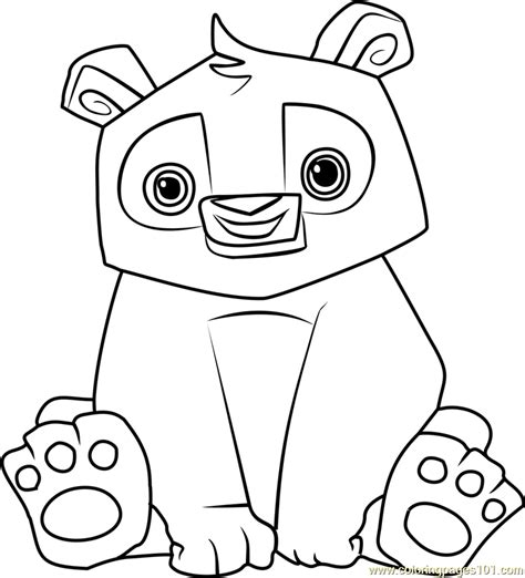 coloring pages of animal jam panda animal jam coloring page free animal jam coloring