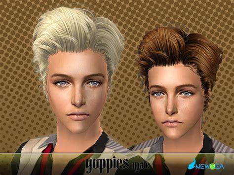 download hair male the sims 2 newsea sims2 hair yu071m yuppies