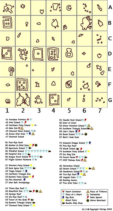 legend of zelda wind waker map the wind waker maps