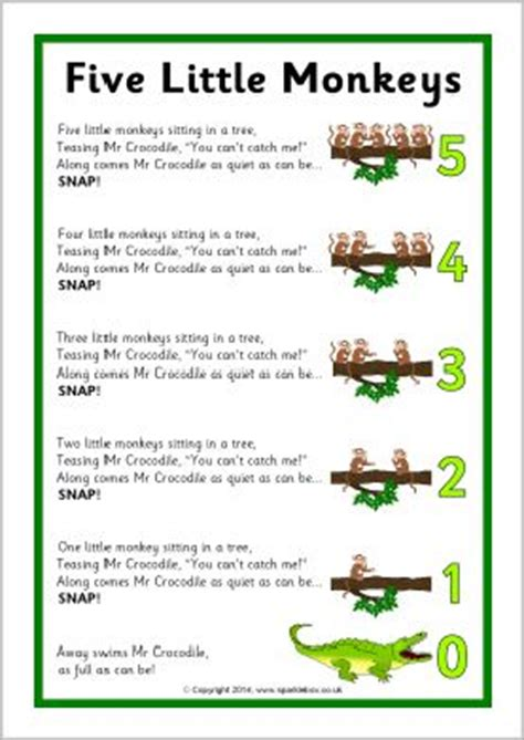 monkey swinging in the tree song best 25 five little monkeys ideas on pinterest five