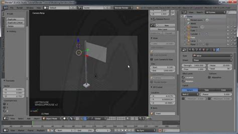 membuat video animasi di blender blender physics tutorial membuat animasi bendera dengan