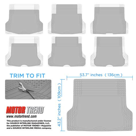 Remove Rubber Smell From Floor Mats by Black Odor Free Trimmable Rubber Tough Cargo Trunk Liner