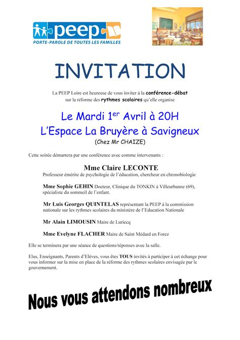 Exemple De Lettre D Invitation Soutien Modele Invitation Conference Document