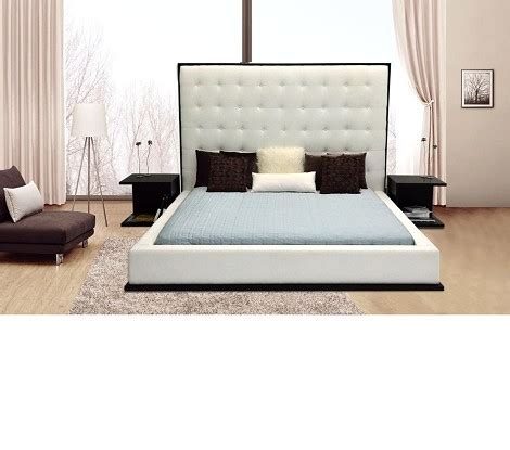 white leather bed high headboard dreamfurniture beth high headboard eco leather bed