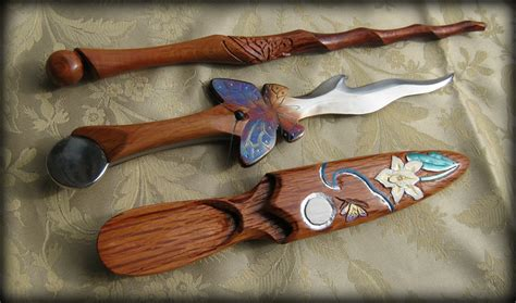 Handmade Athame - butterfly athame and wand set by fableblades on deviantart