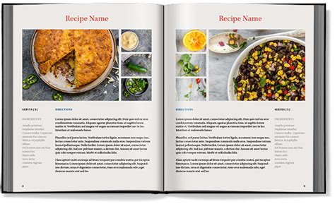 cook book template 8 best images of indesign cookbook template cookbook