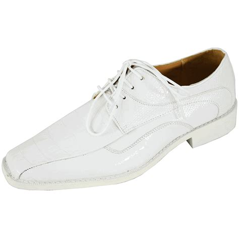 click to enlarge roberto chillini 6442 white mens dress shoes