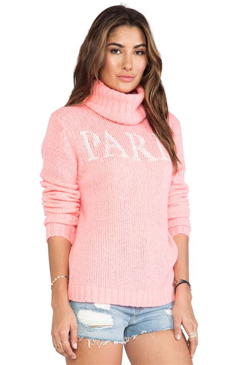 Secondsign Sweater Pink wildfox white label is home seatle sweater in pink