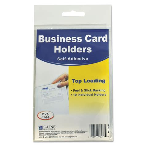 self adhesive self adhesive business card holders by c line 174 cli70257