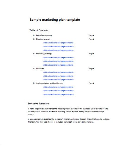 One Page Marketing Plan Template 16 Free Sle Exle Format Download Free Premium One Page Marketing Plan Template