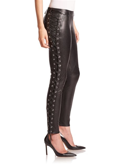 Lace Legging leather lace the else