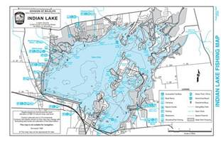 Ohio Lakes Map by Indian Lake Map Indian Lake Ohio