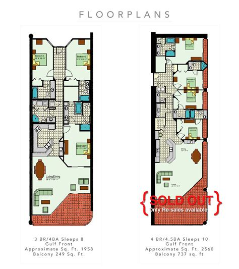 Phoenix West Ii Floor Plans | brett robinson vacations