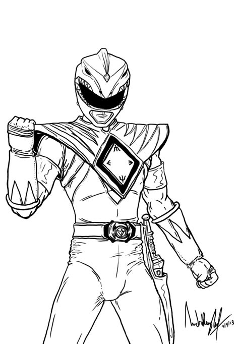 new power rangers coloring pages green power ranger free coloring pages