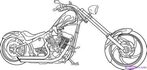 how to draw a motorcycle step by step motorcycles
