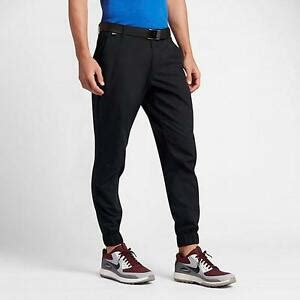 nike oxford jogger mens golf pants  black