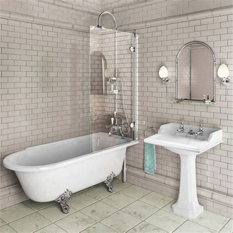 bathroom with bathtub and shower burlington traditional hton bath shower and basin suite