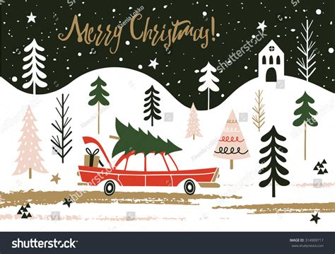 christmas cards shutterstock greeting card merry lettering stock vector 314909717
