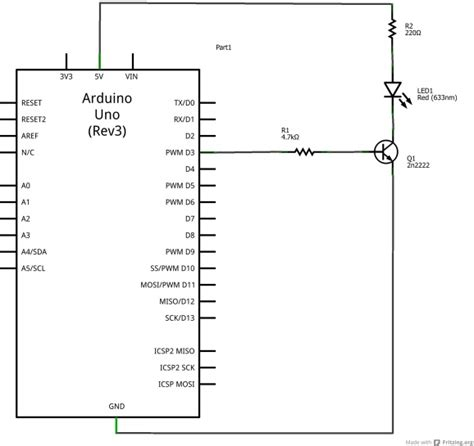 transistor void transistor exle arduino learning