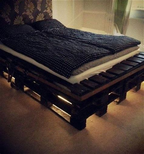 Bed Frame With Lights Precious And Simple Pallet Ideas For Bed Frame With Lights Recycled Pallet Ideas