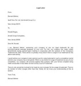 legal letter templates 16 free word pdf documents