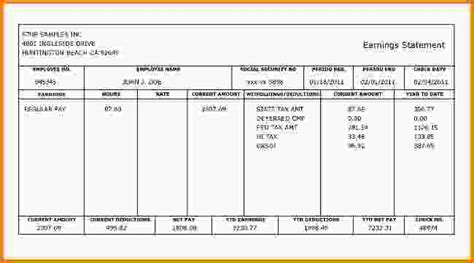 employee pay stub template pay stubs template free blank employee pay stubs template