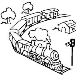 Model Steam Train Coloring Pages Sketch Page sketch template