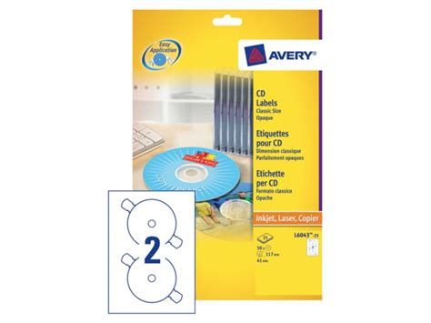 avery template 5418 etiket avery l6043 25 cd wit 50stuks discountoffice be