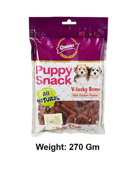 gnawlers treats puppy snack chicken flavour 6 in 1 80 gm treats buy at