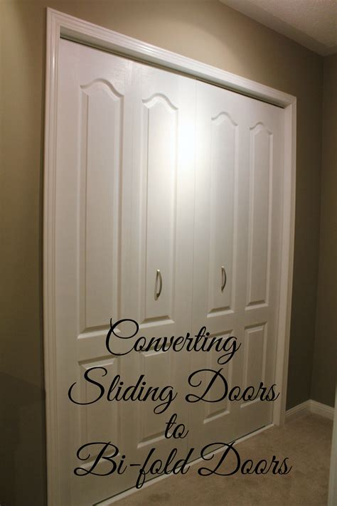 How To Replace Sliding Closet Doors Turtles And Tails Converting Sliding Doors To Bi Fold Doors