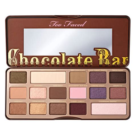 Chocolate And Palette chocolate bar eyeshadow palette faced mecca