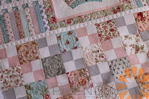 piece n quilt shabby chic meets geometric quilting custom machine quilting