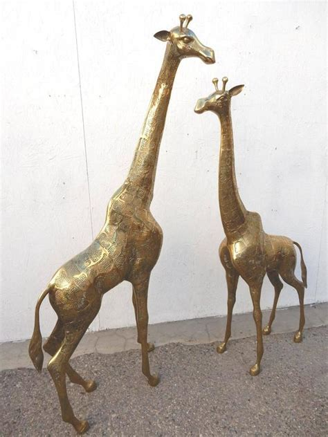 Giraffe Floor L Regency Pair Brass Giraffe Floor Sculptures At 1stdibs