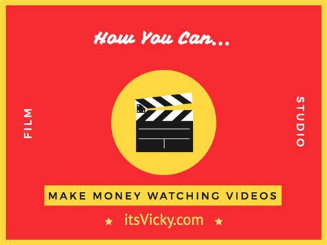 Make Money Online By Watching Videos - how you can make money watching videos itsvicky