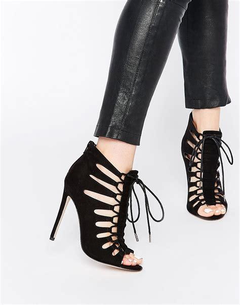 harley high heels asos asos harley lace up heeled sandals at asos