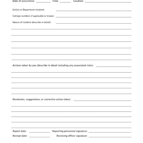 Receiving Report Template Template Receiving Report Template