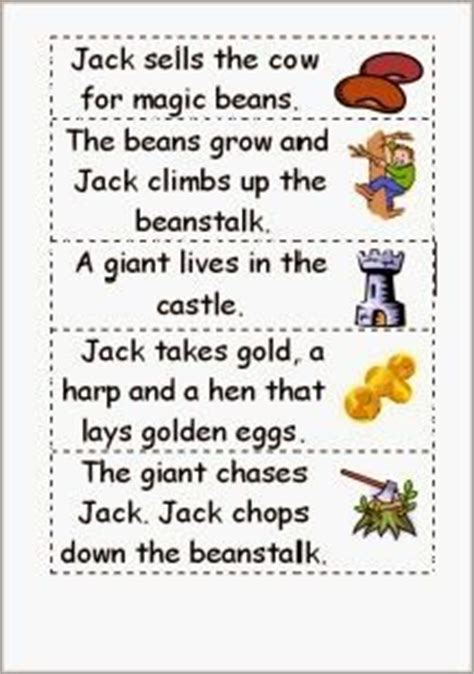 jack and the beanstalk story sequence comprehension