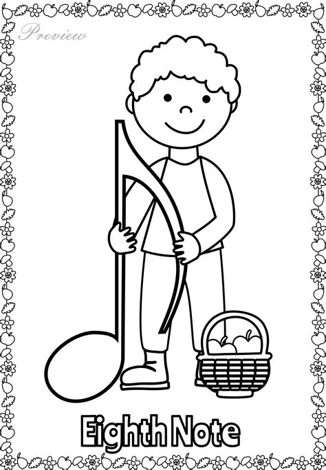 quarter rest coloring page fall musical posters for coloring music symbols treble