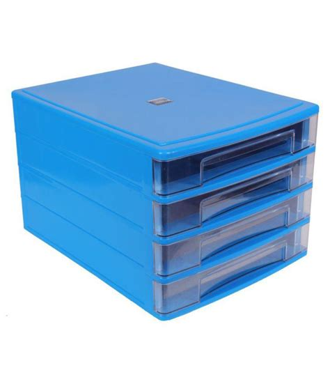 chrome blue plastic 4 drawers file cabinet buy at