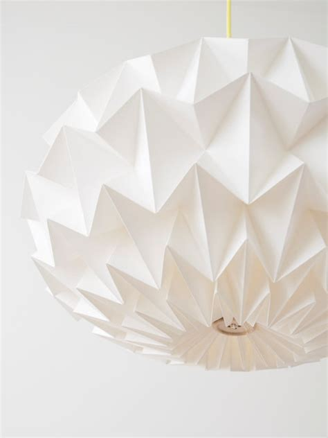 Folded Paper Light Shade - signature white paper origami lshade size xl by studio