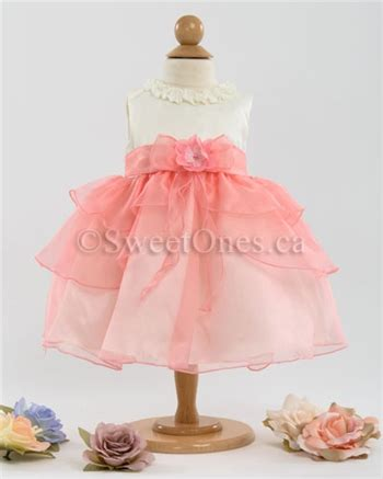 Dress Satin 002 coral infant baby dress baby dresses and shoes