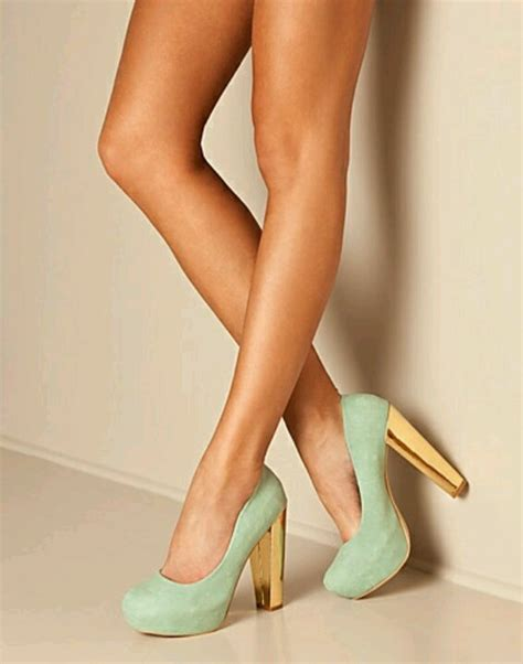 Heels Combi Gold trendy high heels for you mint gold the combi fashion leading