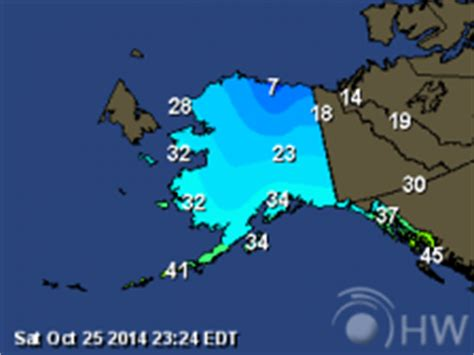 alaska current weather map alaska weather maps