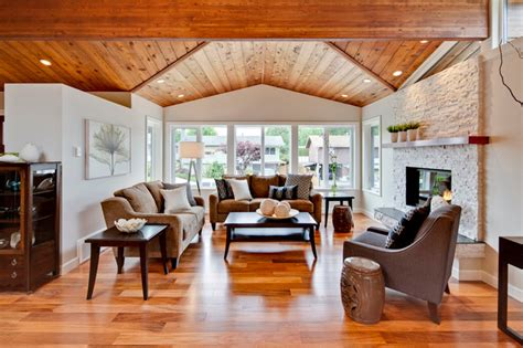 Decorating Ideas For Living Room With Vaulted Ceiling Living Room With Vaulted Ceiling Transitional Living