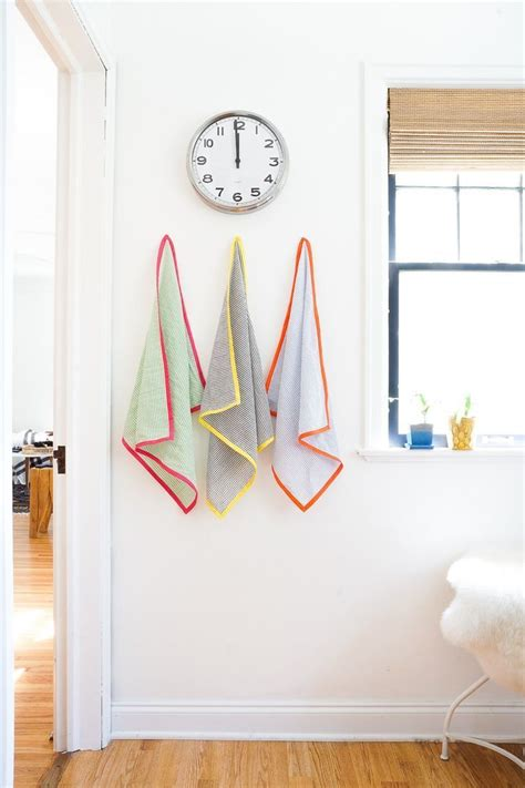 Learn How To Decorate Your Home Home Decor Diy S Learn How To Make These Colorful Seersucker Tea Towels For Your Kitchen
