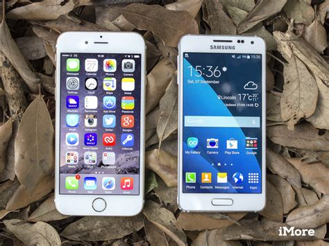 iphone v galaxy iphone 6 versus samsung galaxy alpha metal on metal imore