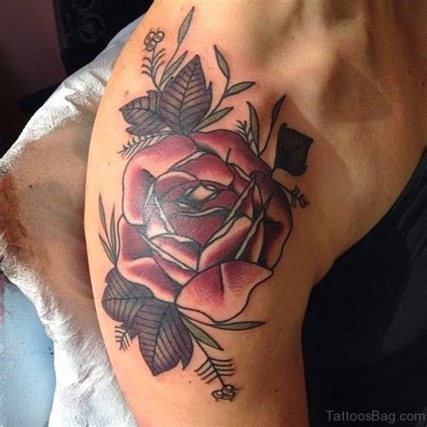 rose tattoo on shoulder blade 96 superb shoulder tattoos for