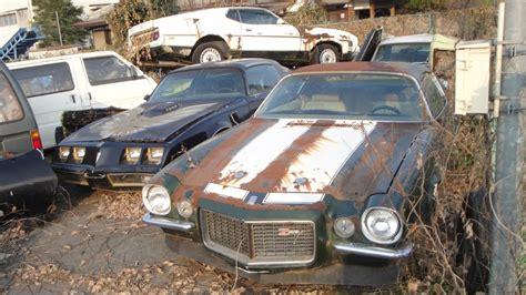 Oklahoma Sale Barns Abandoned In Japan American Muscle Car Junkyard Split