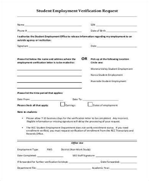 40 proof of employment letters verification forms samples with