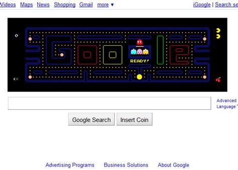 google themes pacman google pac man now permanent also downloadable wakka